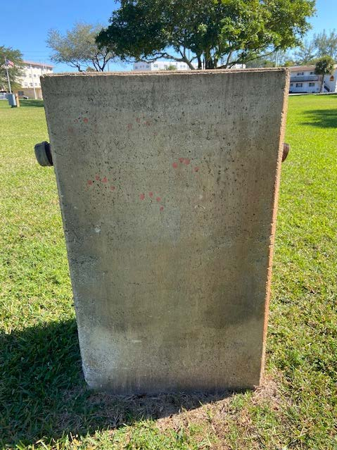 Electrical Tombstone (Concrete back)