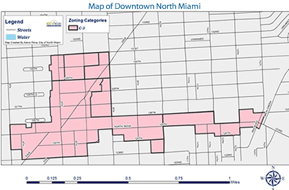 Map of Downtown North Miami
